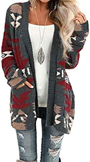 GOSOPIN Women Open Front Pocket Cardigan Sweater Long Sleeve Knit Coat