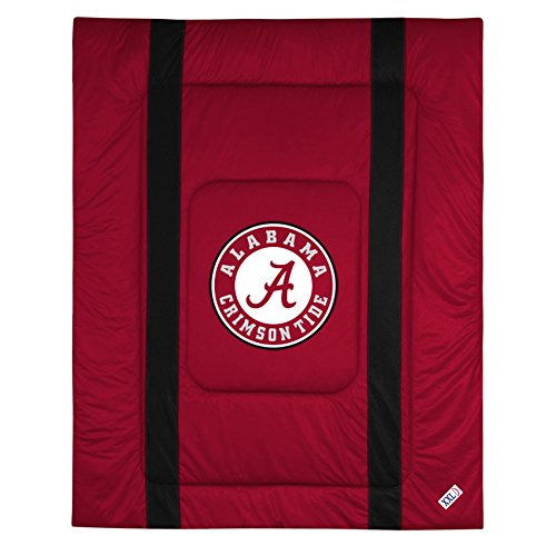 NCAA Alabama Crimson Tide King Bed Comforter Sidelines College Team Logo Bedding by Sports Coverage