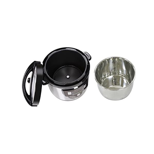 Tayama TMC-60SS Electric Pressure Cooker with Stainless Steel Pot 6 Quart, Medium, Black 4