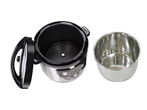 Cooker with Pot Quart, Black