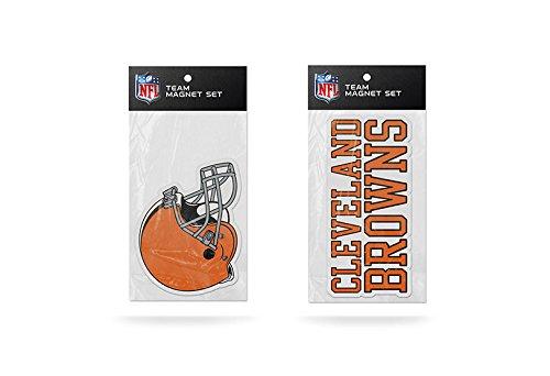 Rico NFL Cleveland Browns 2-Pack Magnet Set