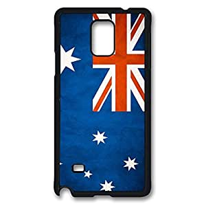 Galaxy Note 4 Case, Australia Design Print Pattern Perfection Case [Anti-Slip Feature] [Perfect Slim Fit] Plastic Case Hard Black Covers for Samsung Galaxy Note 4