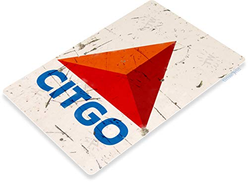 (Tinworld Tin Sign Citgo Oil Retro Rustic Gas Station Metal Sign Decor Garage Auto Shop Cave B124)