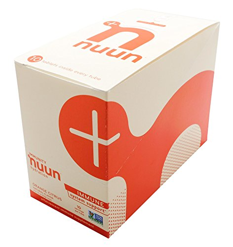 Nuun Immunity: Zinc, Turmeric, Elderberry, Ginger, Echinacea, and Electrolytes for an Anti-Inflammatory and Antioxidant Boost in Immune Support and Hydration, Orange Citrus 8-Pack by Nuun (Image #2)