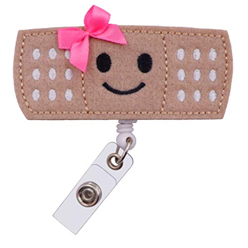 - Badge Reel Bandaid Nurse Doctor Name Tag Holder with Clip