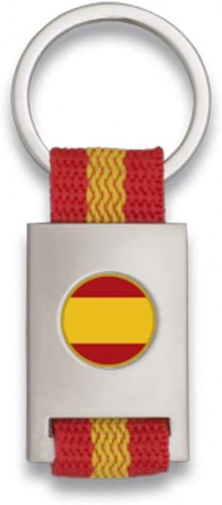 Tiendas LGP Albainox- Llavero Bandera DE ESPAÑA y Chapa Bandera de ...