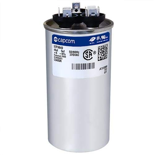 40 Made in The U.S.A. 2 5 uf 370//440 Volt Volt VAC AmRad Round Dual Run Capacitor Armstrong R100335-09 Pack