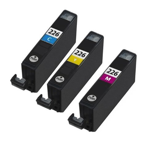 HI-VISION® 3 Pack Compatible Canon CLI-226 CLI 226 Color Ink Cartridge Replacement (Cyan,Yellow,Magenta) for PIXMA iP4820,iX6520,MG5320,MG5120,iP4920,MX882 Wireless,MG5220,MG8220