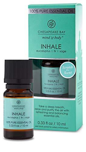 Chesapeake Bay Candle 100% Pure Essential Diffuser Oil 10ml Inhale (Eucalyptus Fir Sage)