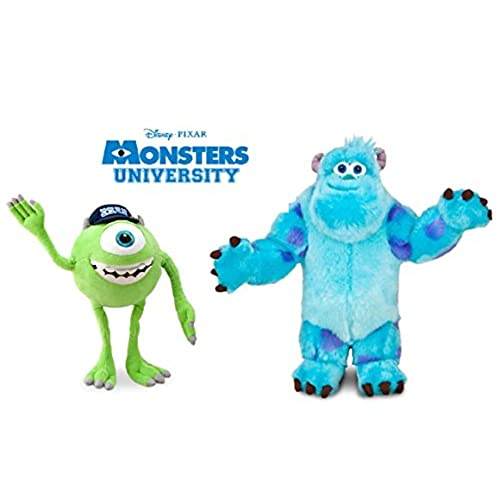 Disney Monsters University LARGE Plush Doll Set Featuring Sulley Sullivan and Mike Wazowski Stuffed Animal Toys Monsters Inc Sully