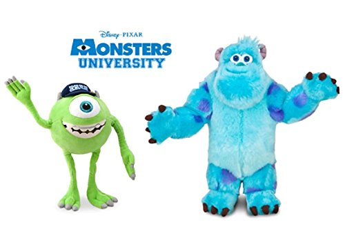 (Disney Monsters University LARGE Plush Doll Set Featuring Sulley Sullivan and Mike Wazowski Stuffed Animal Toys Monsters Inc)