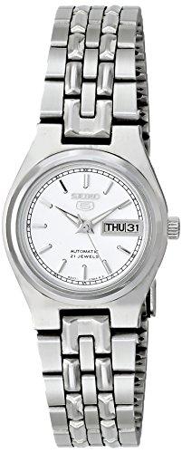Seiko Women's SYM787K Seiko 5 Automatic White Dial Stainless Steel Watch