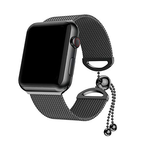 Price comparison product image for Apple Watch Series 4 Milanese Stainless Steel Replacement Watch Band, Outsta Replacement Strap Accessory Smart Watch Band 40mm 44mm (Black,  for Apple Watch Series 4 40mm)