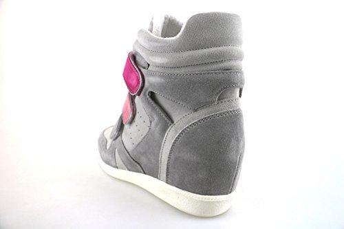 CULT 39 EU sneakers zeppe donna beige grigio camoscio AH865