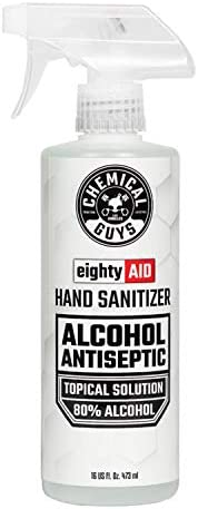 Chemical Guys HYG10016 Alcohol Antiseptic 80% Topical Solution Hand Sanitizer (16 oz), 16. Fluid_Ounces