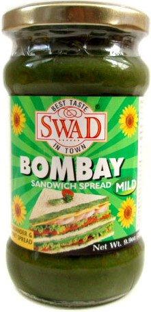 Swad Bombay Sandwich Spread (Coriander & Mint) MILD - 9.9oz / 280g