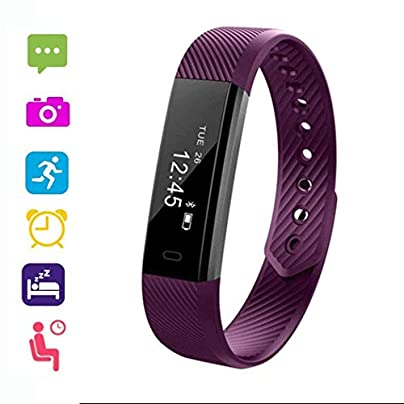 Victorig Unisex Waterproof Digital Display Buckle Closure Smart Bracelet Health Wristband Heart Rate Monitors Estimated Price £6.94 -