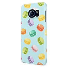 French Rainbow Macarons Pattern Samsung Galaxy S6 Edge Plus Plastic Phone Protective Case Cover