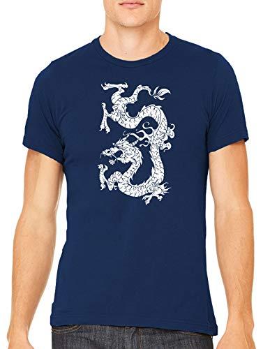 Austin Ink Apparel White Dragon Tattoo Unisex Premium Crewneck Printed T-Shirt Tee