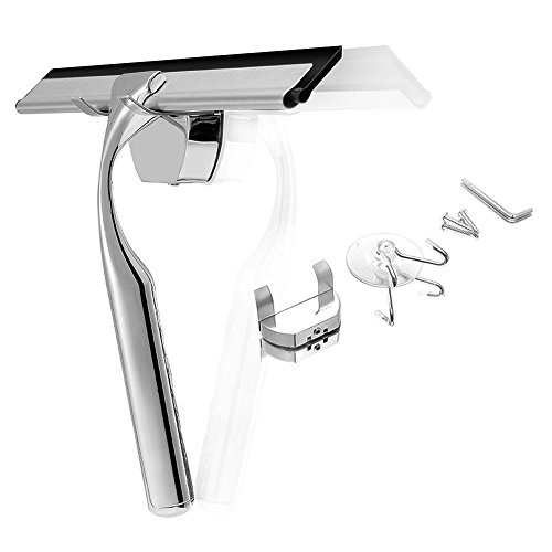 MENQANG Wiper Blades Window Wipers Shower Squeegees-Wall Mount Stainless Steel Glass Window Wiper,Suction Cup Hook Holder Windscreen Wipers