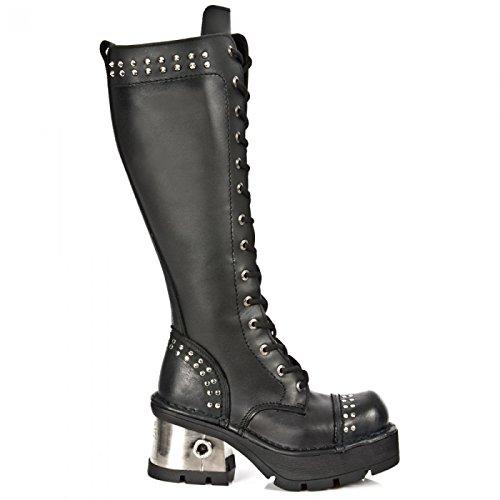 Nuovi Stivali Di Roccia M.1028-c1 Gotiche Damen Hardrock Punk Stiefel Schwarz