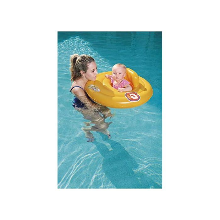 41OoBztM0PL Flotador rosco con asiento para bebe. Flotador para bebés. Asiento con estilo de pañal.