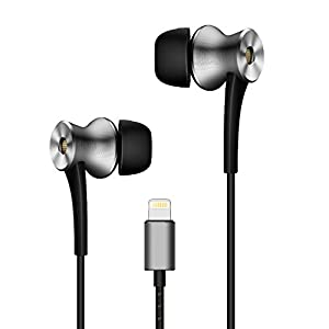 1MORE E1004 ANC-BLKDual Driver Active Noise Cancelling (ANC) In-Ear Headphones (Earphones/Earbuds) w/ Lightning Connection, MFi Certified, and Built-in Mic for iPhone 7, iPhone 8, iPhone X, iPod
