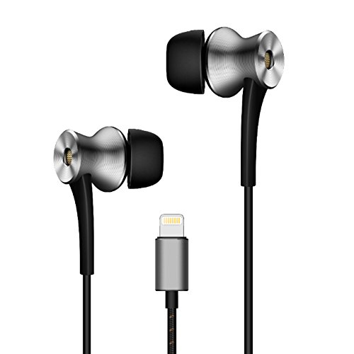 1MORE ANC-BLKDual Driver Active Noise Cancelling (ANC) In-Ear Headphones (Earphones/Earbuds) w/ Lightning Connection, MFi Certified, and Built-in Mic for iPhone 7, iPhone 8, iPhone X, iPad, iPod