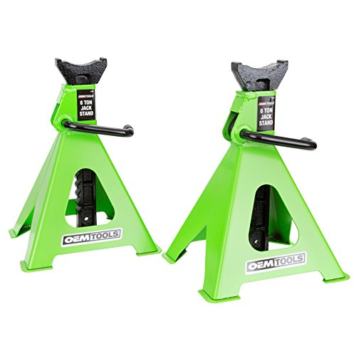 6 Ton Ratcheting Jack Stands - OEMTOOLS 24853 6 Ton Jack Stands (Pair)