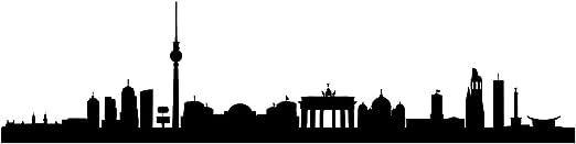 WTD Skyline Berlin XL - 160 cm x 40 cm - tatuaje Duvar - 24 ...
