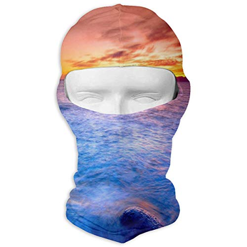 YIXKC Balaclava Ocean Sunset Beauty Great Ski and Winter Sports Headwear Winter Sports for Women