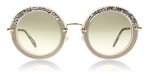 Miu Miu Women's Round Crystal Sunglasses, Argil/Grey, One - Miu Round Sunglasses Miu