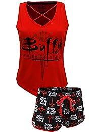 Briefly Stated Womens Standard Buffy The Vampire Slayer 2-Piece Pajama Set