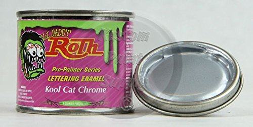 Price comparison product image 1 / 4 Pint - Lil' Daddy Roth Pinstriping Enamel - Kool Cat Chrome