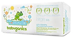 babyganics Color Changing Disposable Swim Diaper (large, Color Changing in sunlight)