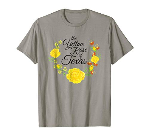 The Yellow Rose of Texas Yellow Rose Wreath Shirt