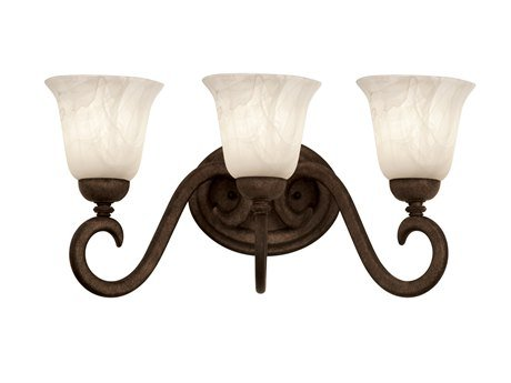 nta Barbara - Three Light Bath Vanity, Glass Options: 1479: Smoked taupe d: 5 h: 6 (1479 Santa)