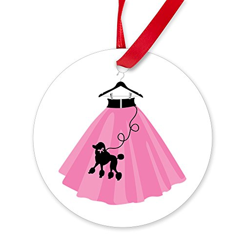 Poodle Skirt Decade (CafePress - Poodle Skirt Ornament - Round Christmas Ornament)