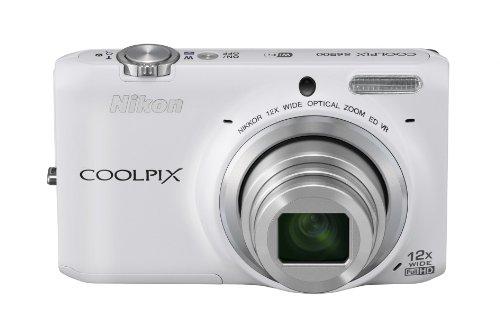 Nikon デジタルカメラ COOLPIX S6500 光学12倍ズーム Wi-Fi対応 ナチュラルホワイト S6500WH