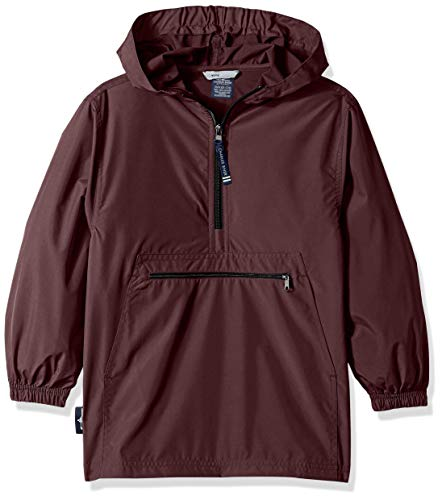 Charles River Apparel Kids' Big Pack-N-Go Pullover, Maroon, - Jacket Kids Maroon