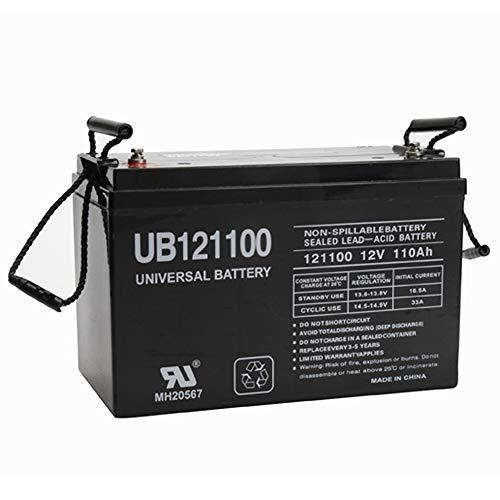 Universal Power Group UPG Sealed Lead-Acid Battery - AGM-Type, 12V, 110 Amps, Model# UB 121100