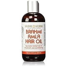 Vadik Herbs Brahmi Amla Hair Oil, 8 Ounce , 8 Ounces
