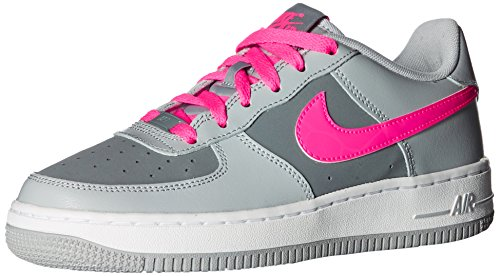 Nike Girls Air Force 1 Basketball Shoes (GS) Wolf Grey/Hyper Pink/Cool Grey/White 6.5Y (Basketball Shoes One)