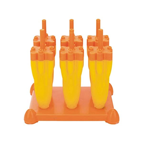Danigrefinb Rocket - Stampo per cubetti di ghiaccio, 6 scomparti, per budini, gelatine, cubetti di ghiaccio, vaschetta… 7 spesavip