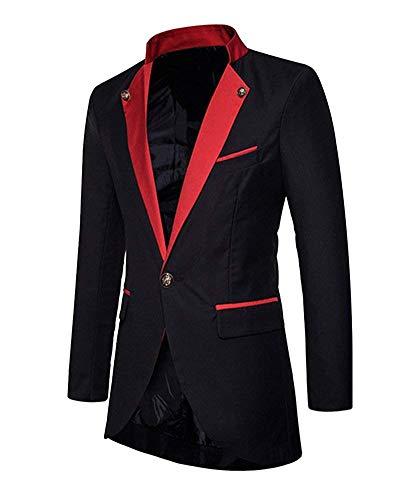 De Slim Manches Longues Fit Vestes Vêtements À Smoking Mariage Blazer Veste Costume Homme Pour Schwarz Vintage w4SxqSU