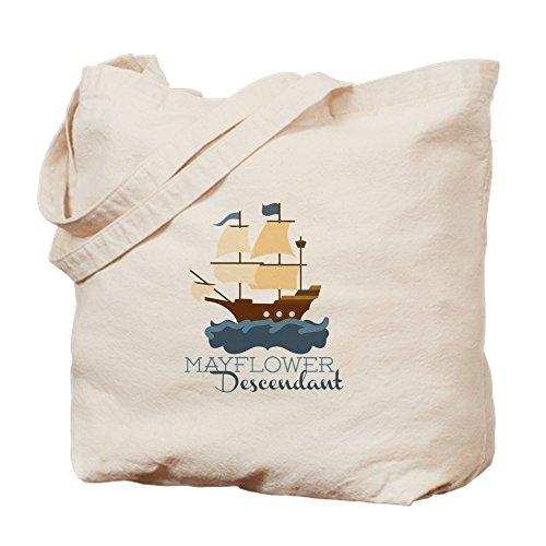 CafePress Mayflower Descendant Natural Canvas Tote Bag, Cloth Shopping Bag