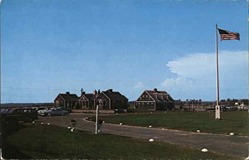 Breezeway Cottages, Lodge and Tennis Court at the Lighthouse Inn, Cape Cod Original Vintage Postcard