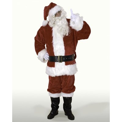 (Sunnywood Men's 's Ultra Deluxe Santa Claus Suit, Red/White, XX-Large)