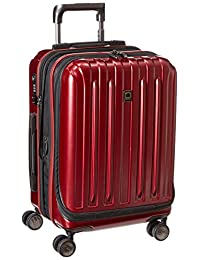 Delsey Luggage Helium Titanium International Carry-On EXP Spinner Trolley Red, Black Cherry, One Size