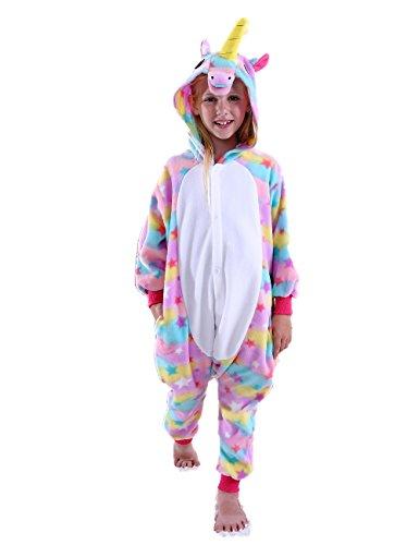 Ifboxs Kids Animal Unicorn Onesie Pajamas Animal Halloween Plush One Piece -